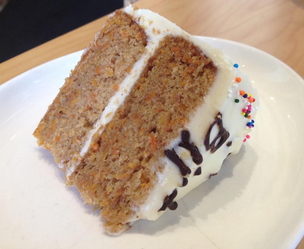 Carrot cake sliced