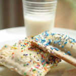 3 Ted's bulletin poptarts with milk