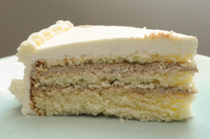Vanilla Nutella Layer Cake
